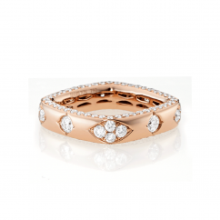 Mercer 18k Rose Gold and Diamond Ring