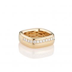 Mercer Diamond and 18k Yellow Gold Ring
