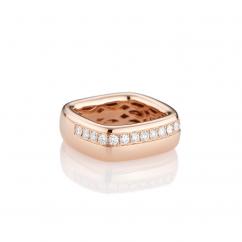 Mercer Diamond and 18k Rose Gold Ring