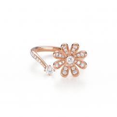 Fleur 18k Rose Gold and .53TW Diamond Ring