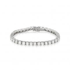 18k White Gold and 11 Carat Diamond Tennis Bracelet