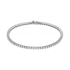 Classic Diamond and 18k Gold Straight Line Tennis Bracelet