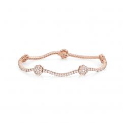 Celestial 14k Rose Gold and Diamond Bracelet