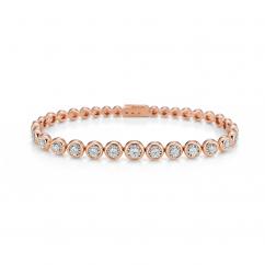 Boundless 18k Rose Gold and Diamond Bracelet