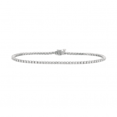 Classic 2.43CT Diamond and 18k Gold Straight Line Tennis Bracelet