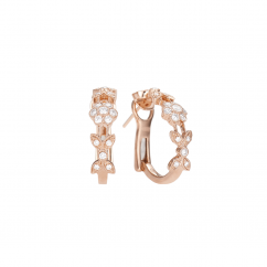 Heritage 18k Rose Gold and Diamond Huggie Earrings