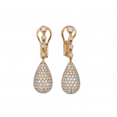 18k Yellow Gold and 4.52TW Diamond Drop Earrings
