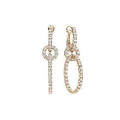 18k Yellow Gold and 4.28TW Diamond Drop Earrings