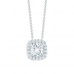 Lisette 18k Gold and 1.00CT Cushion Diamond Pendant