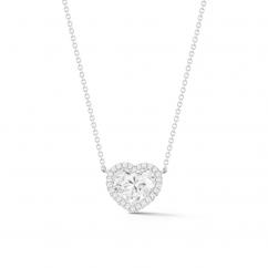 Lisette 18k Gold and Diamond Heart Pendant