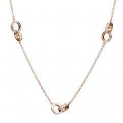 Hamilton Eternity 18k Rose Gold and Diamond Necklace