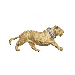 18k Gold and Diamond Tiger Pin
