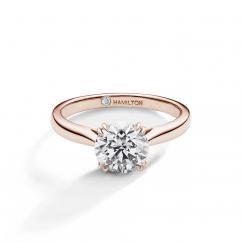 Hamilton Centennial 18k Rose Gold Solitaire Engagement Ring