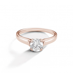 Hamilton Cherish Solitaire 18k Rose Gold Mounting Ring