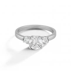 Hamilton Destiny Platinum Three Stone Diamond Engagement Ring