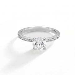 1912 Platinum and Diamond Engagement Mounting Ring