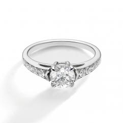 1912 Platinum and .16TW Diamond Engagement Mounting Ring