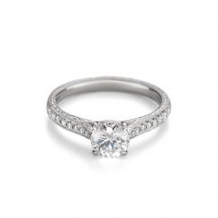 Heritage Platinum and Diamond Semi Mounting Engagement Ring