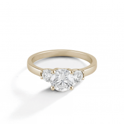 Destiny 18k Yellow Gold Three Stone Diamond Engagment Mounting Ring
