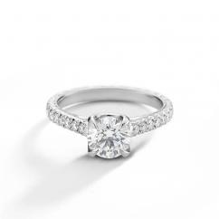 Heritage Platinum and .46TW Diamond Semi Mounting Engagement Ring