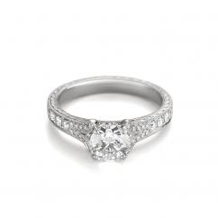 Heritage Platinum and Diamond Semi Mount Engagement Ring
