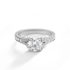 Heritage Platinum and Diamond .31TW Engagement Ring