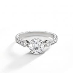 Heritage Platinum and .45TW Diamond Mounting Engagement Ring