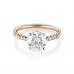 18k Rose Gold Engagement Ring Mounting