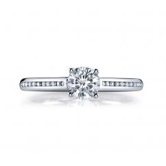 Hamilton Duet 18k .10TW Diamond Semi Mounting Ring
