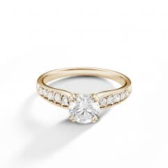 Hamilton Cherish 18k Yellow Gold and Diamond Milgrain Ring