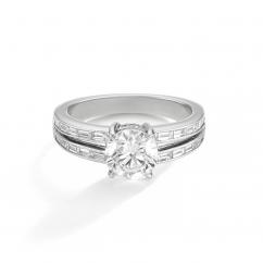 1912 18k White Gold and .46TW Diamond Engagment Mounting Ring