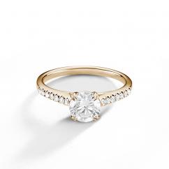Hamilton Cherish Micro Prong 18k Yellow Gold Engagement Ring