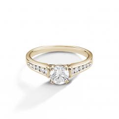 Hamilton Cherish Channel Set 18k Yellow Gold and Diamond Ring