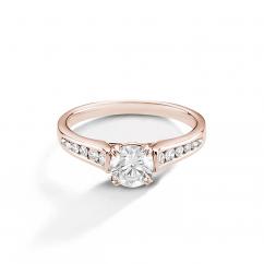 Hamilton Cherish Channel Set 18k Rose Gold and Diamond Ring
