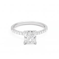 The Hamilton Solitaire Diamond Mounting in Platinum