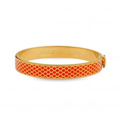 Halcyon Days Salamander Orange and Gold Bangle Bracelet