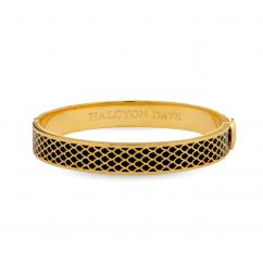 Halcyon Days Salamander Black and Gold Bangle Bracelet