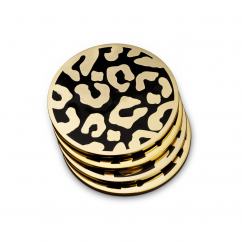 L-Objet Leopard Coaster Set