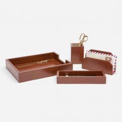 Hamilton Leather Deck Accessory Set