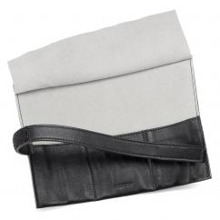 Italian Black Leather Three Watch Roll