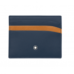 Montblanc Pocket Credit Card Holder Navy-Tan