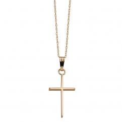 14k Gold Polished Cross Pendant
