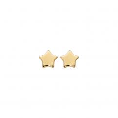 Children's 14k Yellow Gold Star Stud Earrings