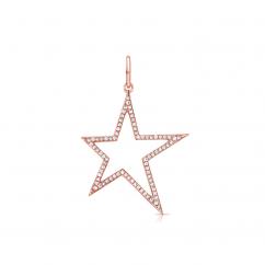 14k Rose Gold and Diamond Shooting Star Charm