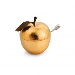 Michael Aram Gold Apple Honey Pot With Spoon