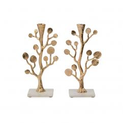 Michael Aram Botanical Leaf Gold Candleholders
