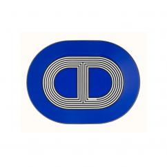 Hermes Rallye 24 Blue Oval Plate