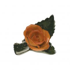 Herend Rust Rose on Leaf