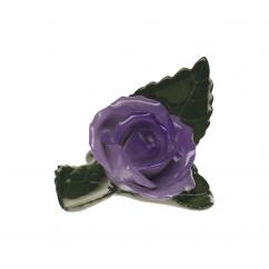 Herend Lilac Rose on Leaf