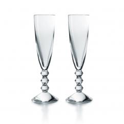 Baccarat Vega Champagne Flutes Set of 2
